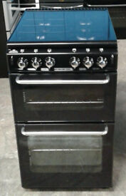 k147 black new world 50cm gas cooker comes with warranty can be delivered or collected
