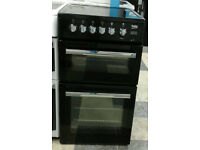 a588 black beko 50cm double oven ceramic hob electric cooker comes with warranty can be delivered