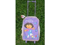 dora the explorer small purple pull along trolley brand new with tags