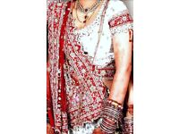 Designer Asian Wedding Bridal Outfit Includes All Jewellery