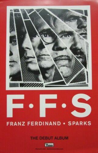 Franz Ferdinand Sparks Album Poster Rare Promo Domino Records FFS Music 2 SIDES!