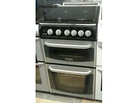 f799 silver cannon 50cm double oven gas cooker comes with warranty can be delivered or collected