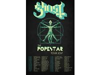 Ghost BC tickets for 01/04/17 Birmingham show (2x tickets)