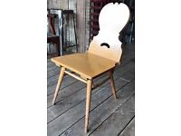 Set Of Four Solid Oak Bavarian Dining Chairs