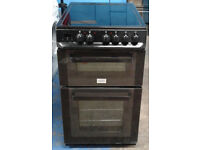 n420 black zanussi 50cm double oven electric cooker comes with warranty can be delivered