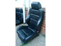 Recaro Black Leather Interior with Front Heated Seats, Golf Mk4