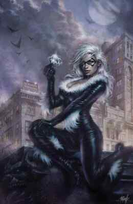 BLACK CAT #1 PARRILLO VIRGIN VARIANT MARVEL COMICS FELICIA HARDY SPIDER-MAN COA](Black Cat Felicia)
