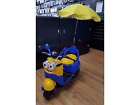 MINIONS ELECTRIC REMOTE CONTROL KIDS RIDE ON SCOOTER BRAND NEW
