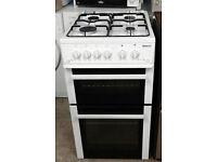 E319 white beko 50cm gas cooker comes with warranty can be delivered or collected