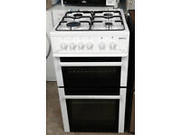 y319 white beko 50cm gas cooker comes with warranty can be delivered or collected