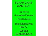 ***SCRAP CARS WANTED***