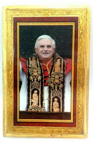 Pope Benedict XVI Wood Plaque, Vatican Souvenir Made in Italy