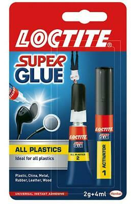 all plastics 2g 4ml super glue bonds