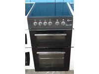 Z508 black flavel 50cm ceramic hob electric cooker comes with warranty can be delivered or collected