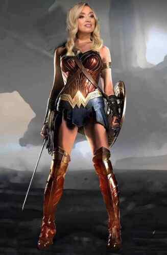 Kayleigh McEnany as Wonder Woman political Bumper Sticker Pro Trump Pro Liberty