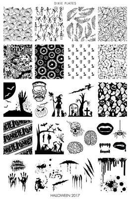 Dixie Plate Stamping Nail Art Accessories Halloween 2017 plate