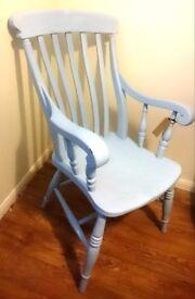 Light blue windsor armchair