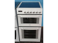 b730 white zanussi 50cm double oven ceramic hob electric cooker comes with warranty can be delivered