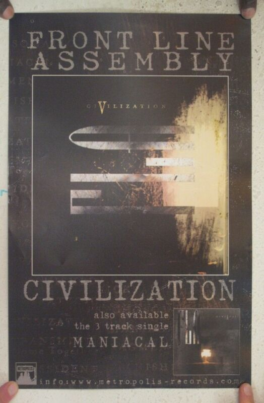 Front Line Assembly Poster Civilization Album Promo Mint Skinny Puppy