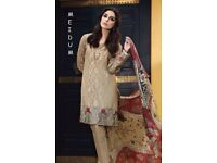 clearance maria b stitched suit medium size