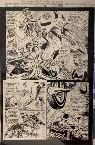MARC SPECTOR MOON KNIGHT #37 PG 18 ORIGINAL RON GARNEY COMIC ART PAGE! PUNISHER!
