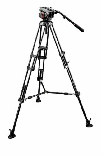 Manfrotto 546B Tripod 504HD FluidHead, Includes Spreaders, Boots & Carrying Case