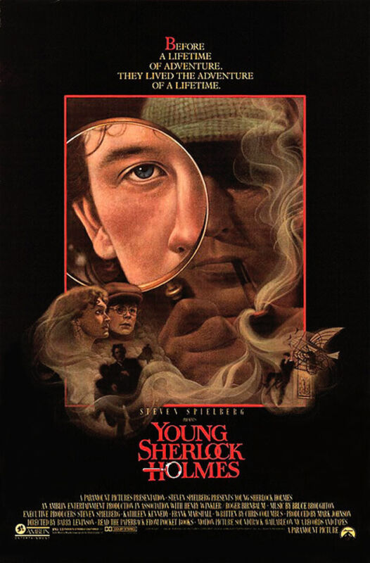 Young Sherlock Holmes (1985) Movie Poster, Original, SS, Unused, NM, Rolled
