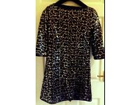 Stunning black and gold sequin dress brand new size 12