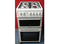n092 white hotpoint 50cm gas cooker comes with warranty can be delivered or collected