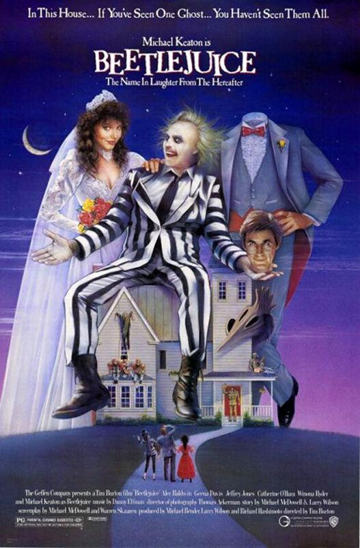 Beetlejuice (1988) Movie Poster Version B, Original, SS, Unused, NM, Rolled