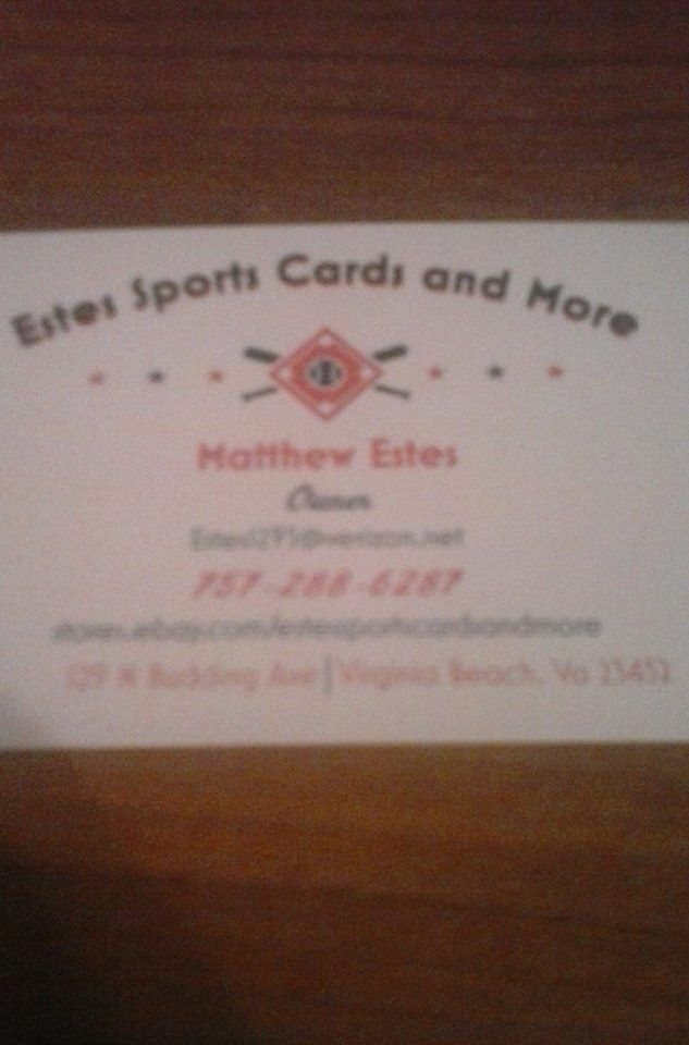 ESTES SPORTS CARDS AND MORE