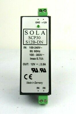 Sola DC power supply SCP30S12B-DN 12vdc