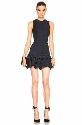 NWOT Dion Lee Lory Circle Cut Slash Ruffle Mini Dress size US 2