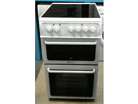 a206 white hotpoint 50cm ceramic hob electric cooker comes with warranty can be delivered