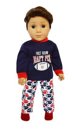 Football Pajamas for American Girl Boy Dolls  - Football Pajamas For Boys