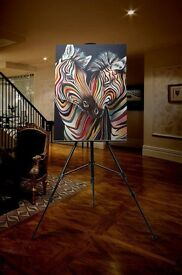 Luxury Zebra Art Canvas - Ready to Hang.