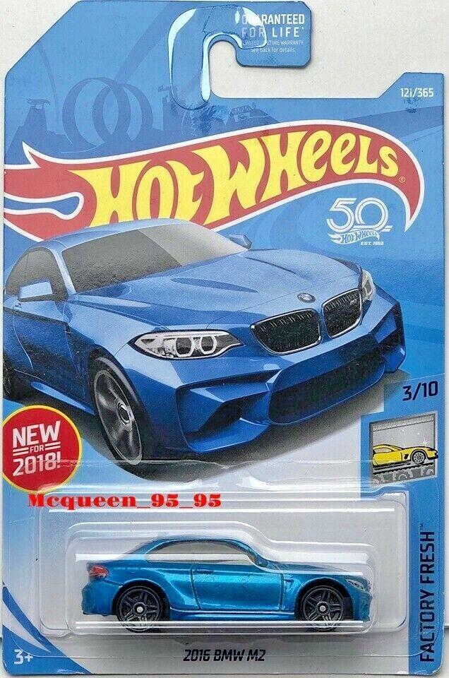 HOT WHEELS 2018 FACTORY FRESH 2016 BMW M2 BLUE