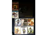 120gb ps3 slim with 1 wireless Sony pad and charger headset 8 games fully working online aswel