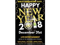 NEW YEARS EVE 2018 WELCOME PARTY COVENTRY! FAMILY ENVIRONMENT £6 ONLY