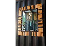 wooden designer's mirror