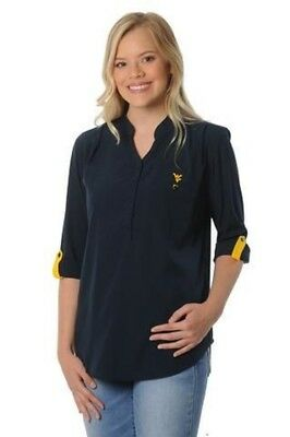 West Virginia Mountaineers Womens Shirt Ug Apparel Missy S  M  1X 2X Relaxed Fit