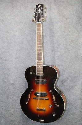 THE LOAR LH-319-VS ARCHTOP Acoustic Electric P90 Guitar *B0987