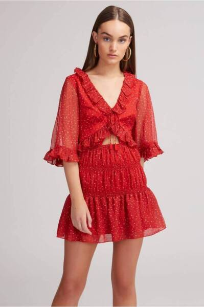 c5273df354 Finders Keepers Locales Mini Dress in Red Speckle