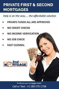 PRIVATE LENDERS - we provide 2nd mortgage / Private Refinance /  Equity take out ALL Qualify call 289-270-1738