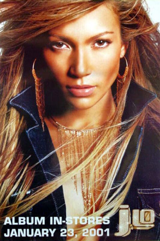 Jennifer Lopez - J. Lo (2001) original album promo poster - single-sided -rolled