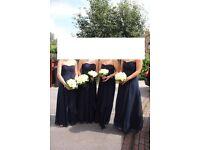 Coast navy blue maxi bridesmaid dress size 8