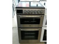 d061 stainless steel zanussi 50cm electric cooker comes with warranty can be delivered or collected