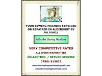 Sewing machine servicing and repair all domestic makes