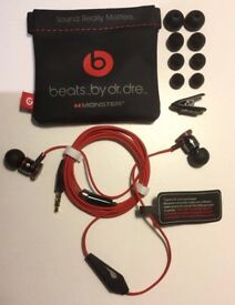 Monster Beats by -Dr Dre URBEATS In Ear Headphones Earphone Black