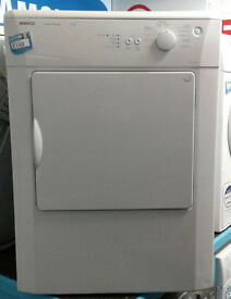 e351 white beko 6kg vented dryer comes with warranty can be delivered or collected